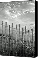Safety Canvas Prints - Fence At Jones Beach State Park. New York Canvas Print by Gary Koutsoubis