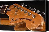 Guitar Headstock Canvas Prints - Fender Stratocaster Headstock Canvas Print by Corky Willis Atlanta Photography