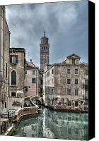 Waterway Canvas Prints - Fenice Venice Canvas Print by Marion Galt