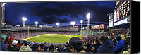 Boston Red Sox Canvas Prints - Fenway Night Canvas Print by Rick Berk