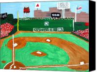 Baseball Painting Canvas Prints - Fenway Park Canvas Print by Jeff Caturano