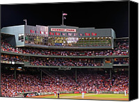 Mlb Canvas Prints - Fenway Park Canvas Print by Juergen Roth