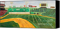 Fenway Park Painting Canvas Prints - Fenway Park Canvas Print by Kristin St Hilaire