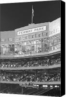 Boston Red Sox Canvas Prints - Fenway Park Canvas Print by Lauri Novak