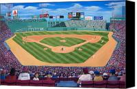 Fenway Park Painting Canvas Prints - Fenway Park Canvas Print by Richard Ramsey