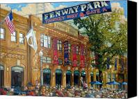 Building Canvas Prints - Fenway Summer Canvas Print by Gregg Hinlicky