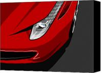 Fast Canvas Prints - Ferrari 458 Italia Canvas Print by Michael Tompsett