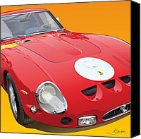 Ferrari Gto Canvas Prints - Ferrari GTO detail Canvas Print by Alain Jamar