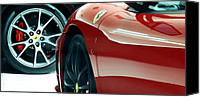 Unique Cars Canvas Prints - Ferrari Stand Off Canvas Print by Steven Milner