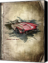 Transportation Mixed Media Canvas Prints - Ferrari Canvas Print by Svetlana Sewell