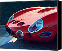 Gto Painting Canvas Prints - Ferrari Two Fifty GTO Canvas Print by Frank Dalton