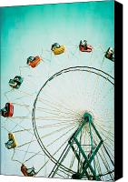 North Carolina Canvas Prints - Ferris Wheel 2 Canvas Print by Kim Fearheiley