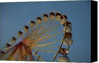 Fun Fair Canvas Prints - Ferris Wheel Canvas Print by Huy Lam