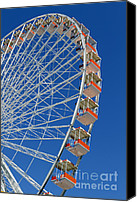 Travel Photo Special Promotions - Ferris Wheel Wildwood New Jersey Canvas Print by John Van Decker