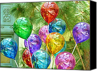 Baloons Canvas Prints - Festive Canvas Print by Florene Welebny