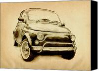 Classic Car Canvas Prints - Fiat 500L 1969 Canvas Print by Michael Tompsett
