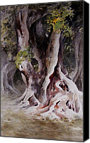 Fantasy Canvas Prints - Ficus Aurea Canvas Print by Rachel Christine Nowicki