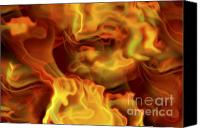 Incandescent Canvas Prints - Fiery Mist Canvas Print by Michal Boubin
