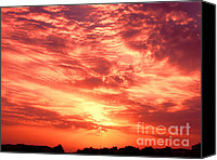 Saudi Canvas Prints - Fiery Sunrise Canvas Print by Graham Taylor
