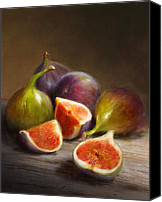 Still Life Tapestries Textiles Canvas Prints - Figs Canvas Print by Robert Papp