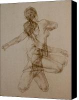 Nude Canvas Prints - Figurative Movement Canvas Print by Gary Kaemmer