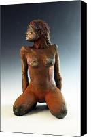 Copper Sculpture Canvas Prints - Figure Study Two Front View Canvas Print by Alejandro Sanchez
