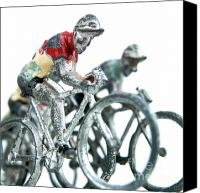 Cycle Canvas Prints - Figurines Canvas Print by Bernard Jaubert