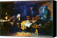 House Painting Canvas Prints - Fildes The Doctor 1891 Canvas Print by Granger