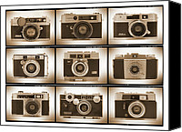 Black Digital Art Canvas Prints - Film Camera Proofs 2 Canvas Print by Mike McGlothlen