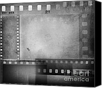 Negative Photo Canvas Prints - Film negatives  Canvas Print by Les Cunliffe