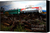 Wine Train Canvas Prints - Final Stop Express . 7D8995 Canvas Print by Wingsdomain Art and Photography