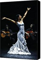 Dancer Art Canvas Prints - Finale del Funcionamiento del Flamenco Canvas Print by Richard Young