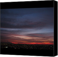 Retratodebelohorizonte Canvas Prints - Finalzinho Do #pordosol , Inicio De Canvas Print by Diogo Rocha