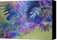 Plants Mixed Media Canvas Prints - Finding the Self Canvas Print by Vijay Sharon Govender