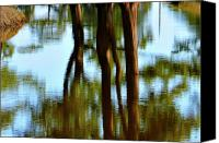 Impressionism Photo Canvas Prints - Fine Art Photography - Reflections Canvas Print by Gerlinde Keating - Keating Associates Inc