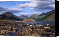 Gable Canvas Prints - Fine Evening at Wastwater Canvas Print by John Perriment