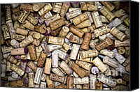 Kitchen Art Canvas Prints - Fine Wine Corks Canvas Print by Frank Tschakert