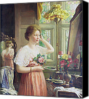 Lamps Painting Canvas Prints - Finishing Touches Canvas Print by George Wimpenny