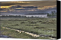 Rural Scenes Canvas Prints - Finnish Moorland Canvas Print by Heiko Koehrer-Wagner