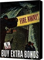Us Navy Canvas Prints - Fire Away Canvas Print by War Is Hell Store