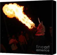 Pyrotechnics Canvas Prints - Fire axe 2 Canvas Print by Agusti Pardo Rossello