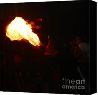 Pyrotechnics Canvas Prints - Fire blower Canvas Print by Agusti Pardo Rossello