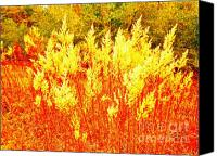 Landscapes Glass Art Canvas Prints - Fire Dances Canvas Print by Chuck Taylor