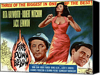 Fid Photo Canvas Prints - Fire Down Below, Robert Mitchum, Rita Canvas Print by Everett