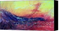 American Midwest Painting Canvas Prints - Fire Dragon Canvas Print by David Ackerson