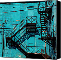 Fire Escape Photo Canvas Prints - Fire Escape 1 Canvas Print by Andrew Fare