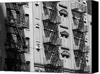 Fire Escape Photo Canvas Prints - Fire Escape Canvas Print by Jeff Bord