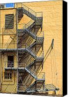 Fire Escape Photo Canvas Prints - Fire escape Canvas Print by Rudy Umans