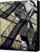 Bennett Canvas Prints - Fire Escape Canvas Print by Sarah Loft