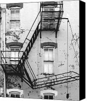 Fire Escape Photo Canvas Prints - Fire Escape Canvas Print by Steven Ainsworth